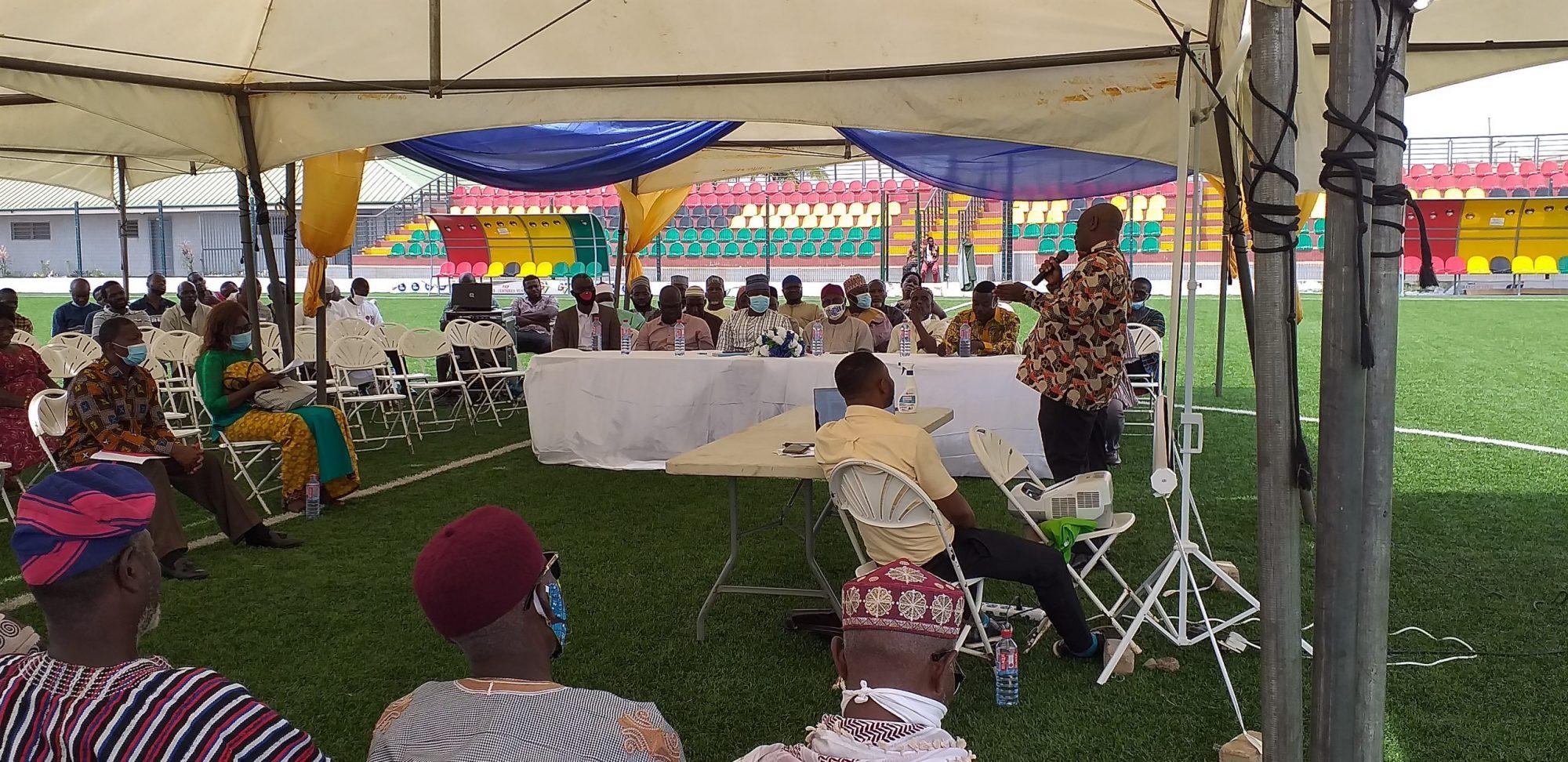 Dr Richard Bayitse addresses attendees at community durbar