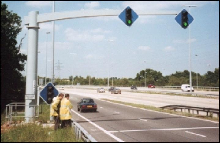Photo of motorway on-ramp