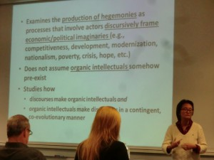 Ngai-Ling on Production of Hegemony and Intellectuals