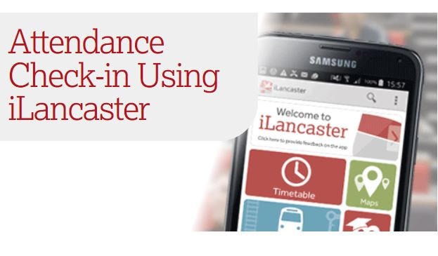 Attendance Check-in using iLancaster