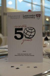 50th anniversary evening celebration menu card