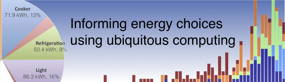 Informing energy choices using ubiquitous computing