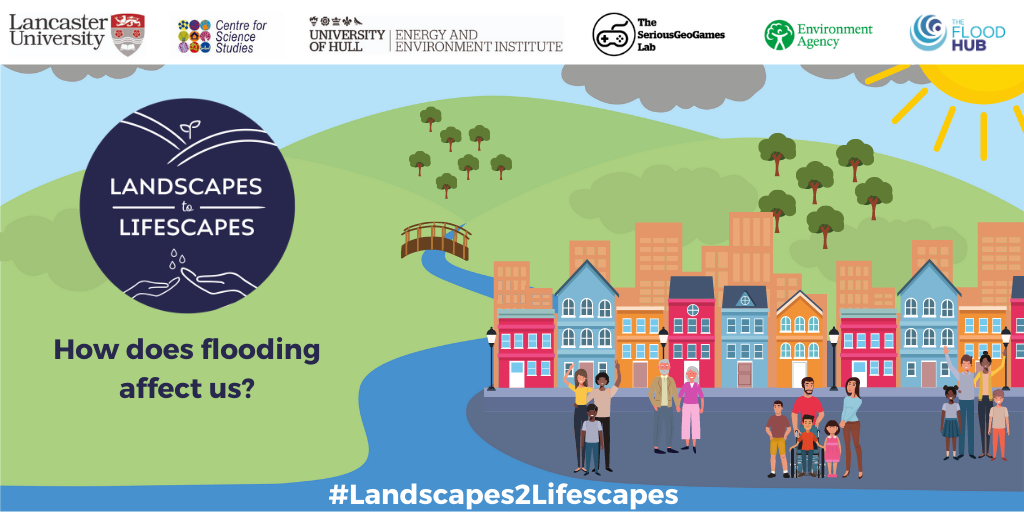 Graphic showing Landscapes to Lifescapes logo, project partner logos and twitter handle: #Landscapes2Lifescapes