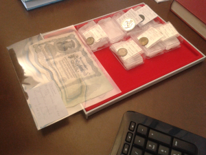 German, Russian and French coins and notes