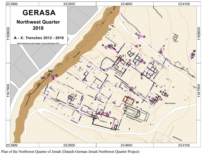 Image of Tom Birch work (Plan of the Northwest Quarter of Jerash)