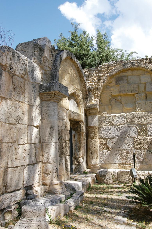 Counter-façade, Romanesque church of San Saturnino (Cagliari)