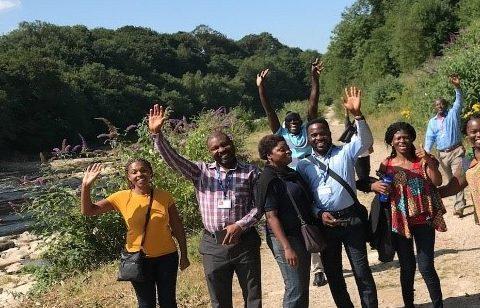 RECIRCULATE residents visiting Halton Mill