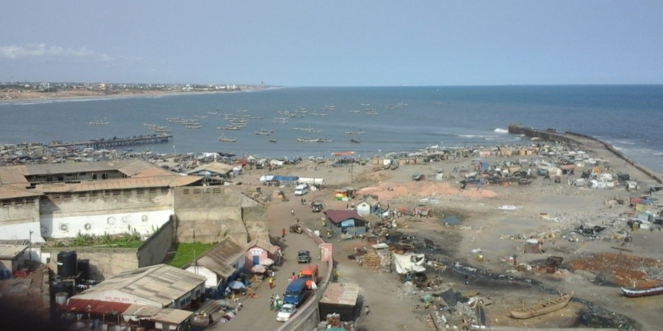 A beach in Accra that acts as place for open defecation for residents in low income communities