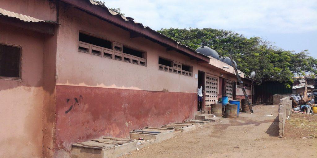 Public toilet in Jamestown Accra Ghana
