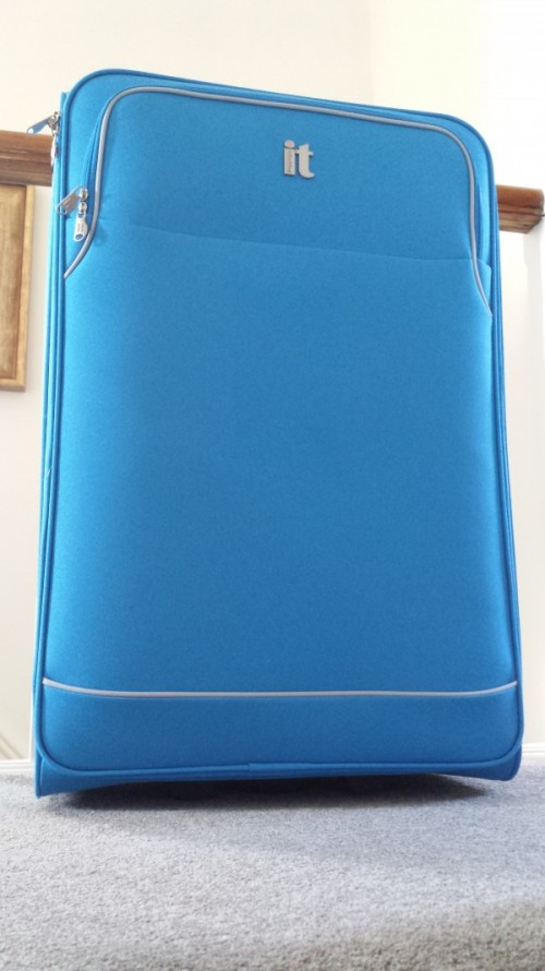 Image of a large blue suitcase