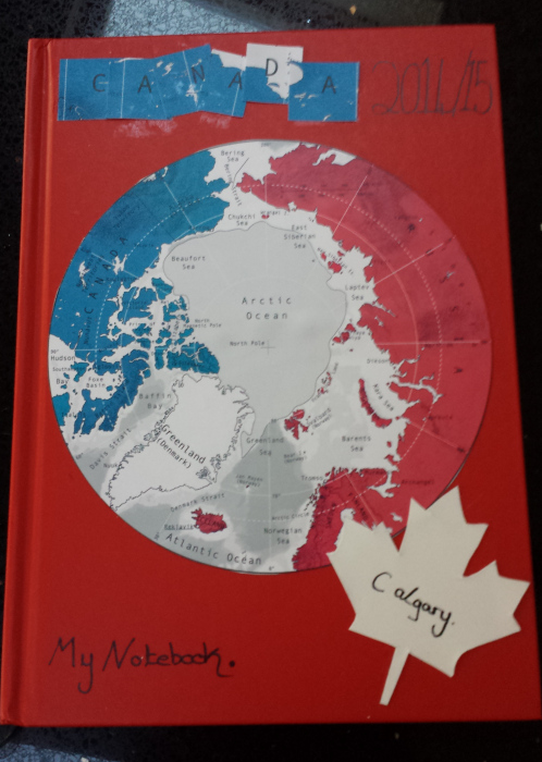 image of a decorated notebook for Canada