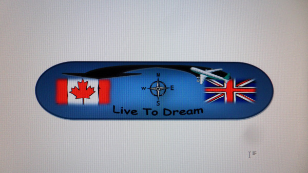 image of a snowboard with illustrations of both UK and Candian flag