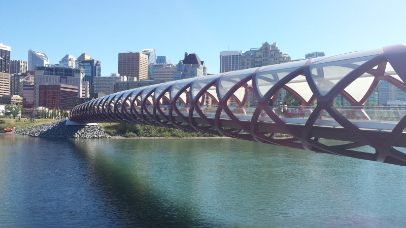 An image of the City of Calgary and bridge