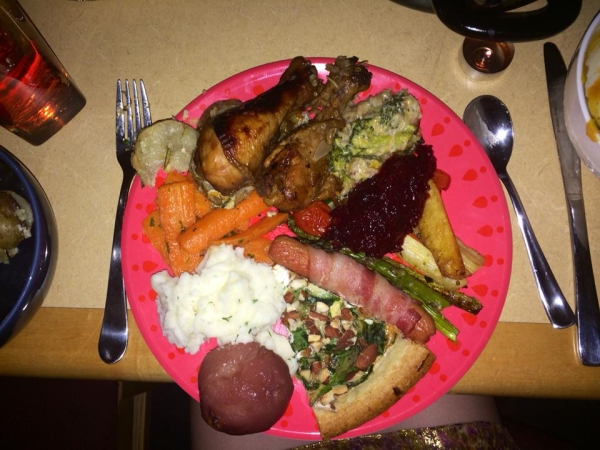 Laura's image of Thanksgiving dinner
