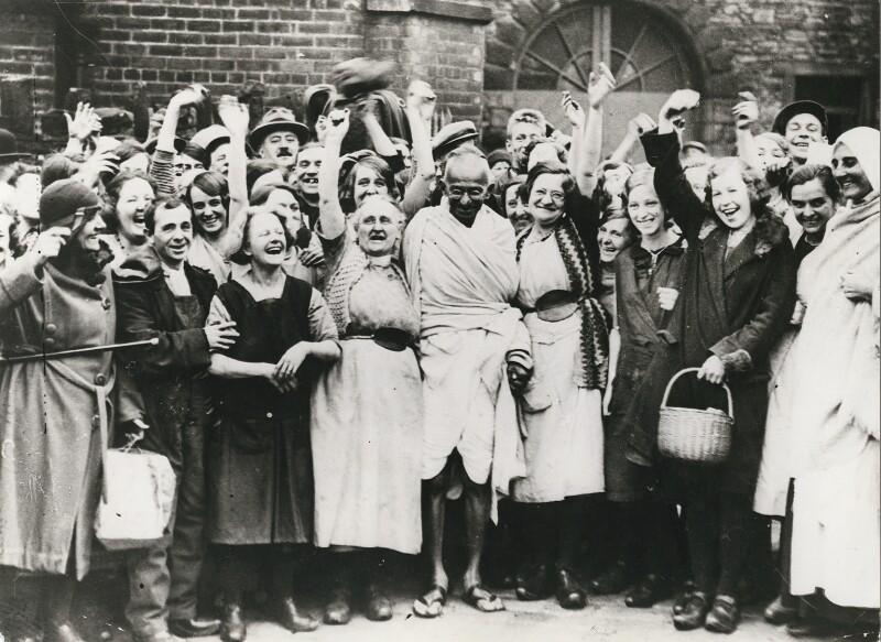 Photo of Mahatma Gandhi's visit to Darwen, 1931
