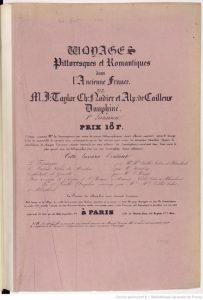 The title page of Voyages pittoresques et romantiques dans l'Ancienne France