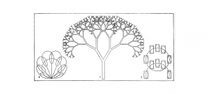 Fractal drawing of a tree