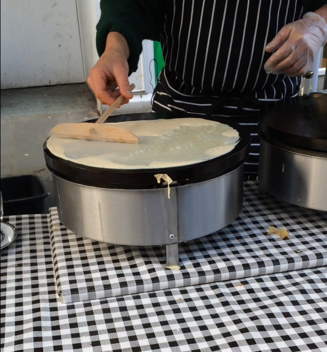 Forming the crepe