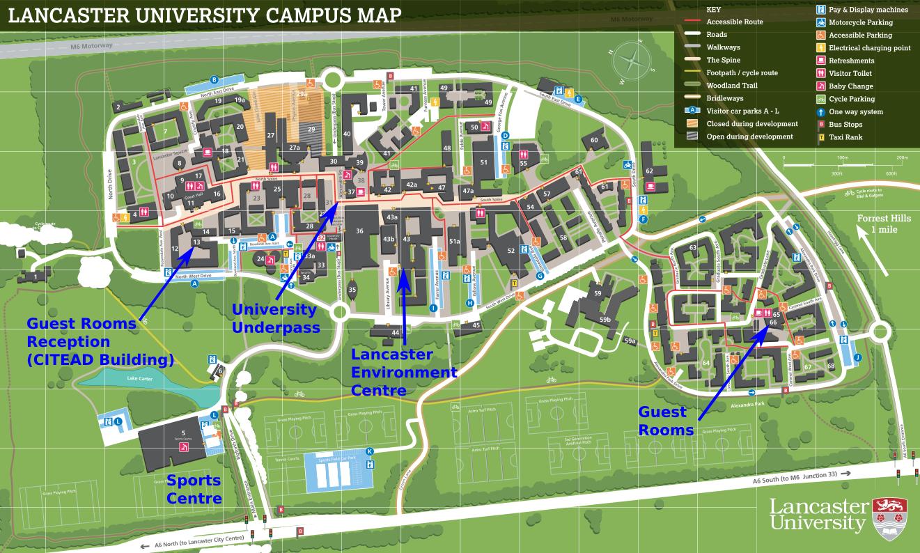 Lancaster Campus Map Location & venue – International Glaciological Society