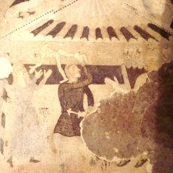 Photograph of one of the murals of the church of S. Andrea Priu