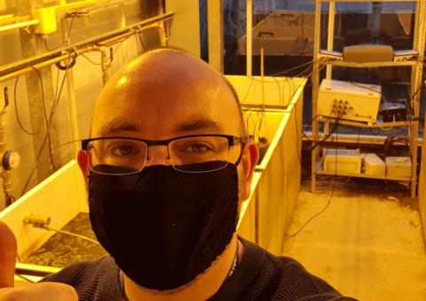 Dr Ryan Edge at Lancaster University Labs